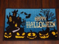New Novelty Happy Halloween Door Mat Non Slip 40cmx60cm Pumpkin Spooky House
